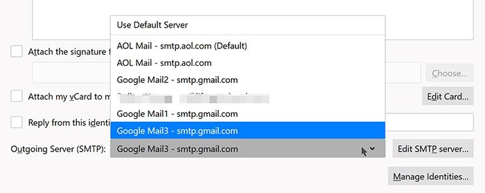 7. To select the correct Outgoing Server (SMTP)
